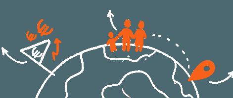 Famille d'expatriés dans le monde