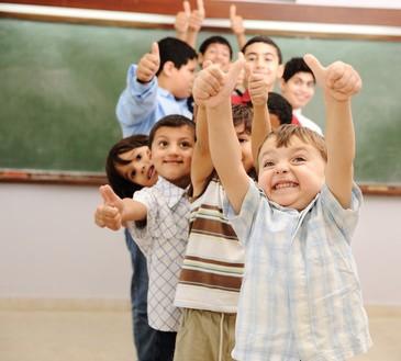 classe d'enfants expatriés